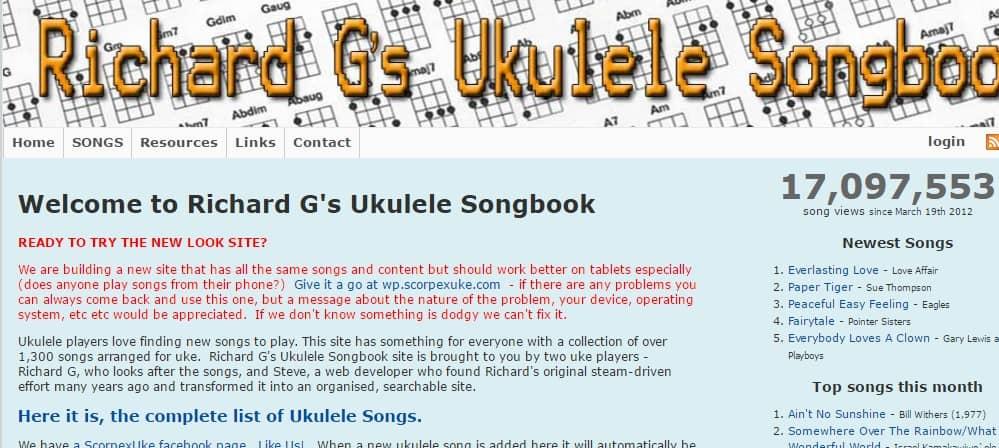 Richard G's Songbook