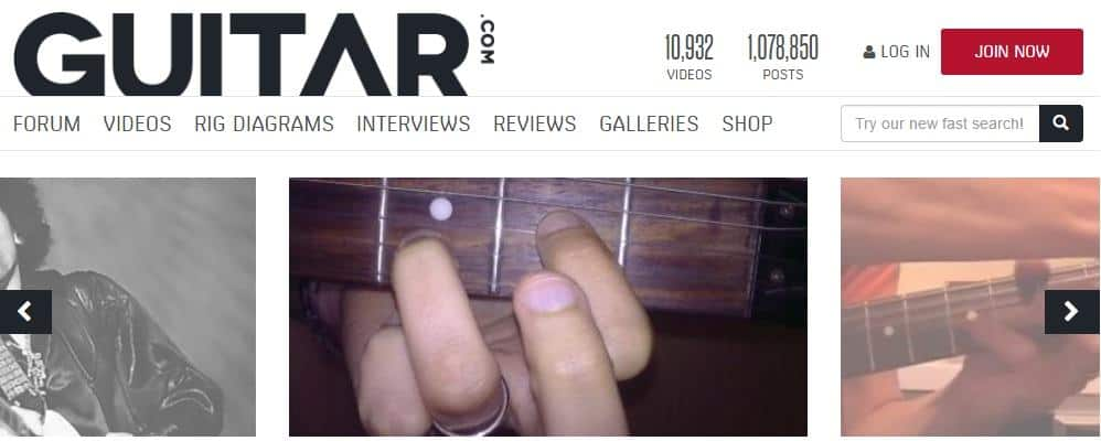 Guitar.com Website