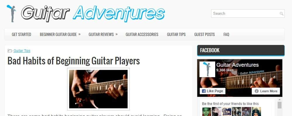 Guitar Adventures Site