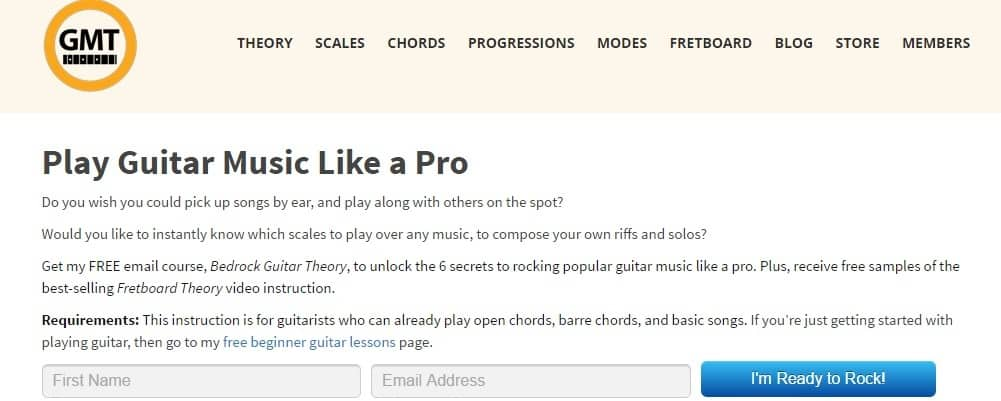 Guitar Music Theory Site