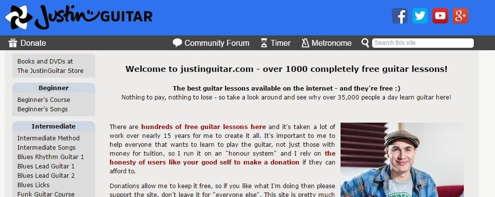 The Top 50 Guitar Sites - StringVibe