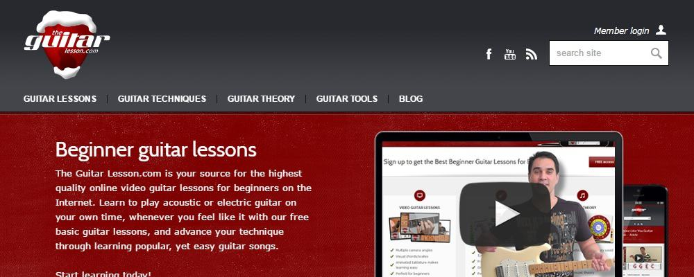 The Guitar Lesson Website