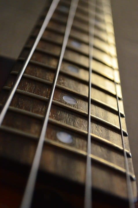 Up Close Guitar Neck
