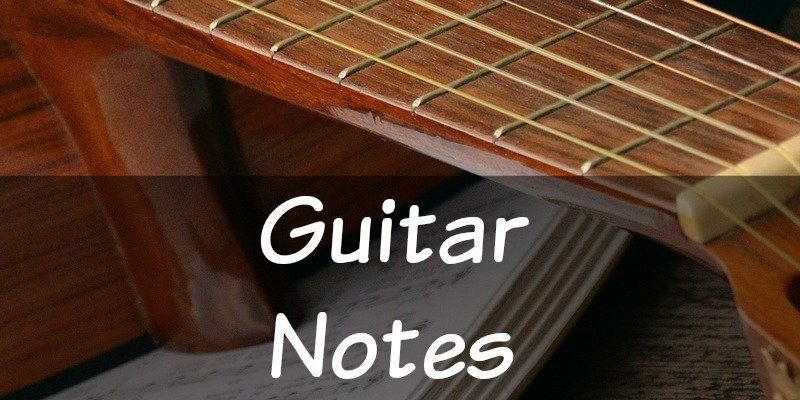 Acoustic guitar string notes